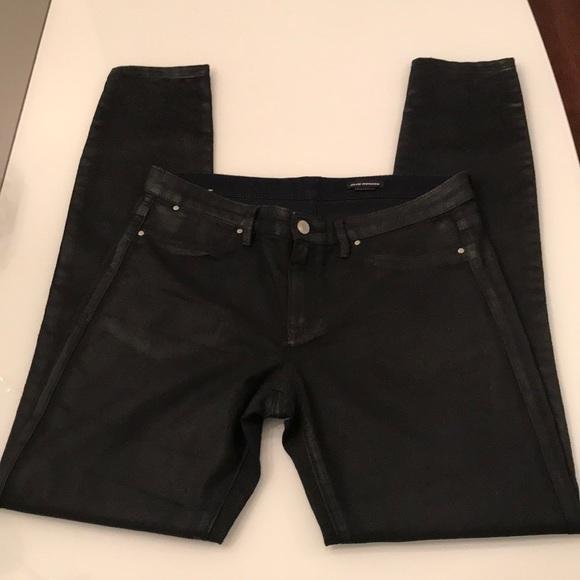 Club Monaco Coated Black Jeans!